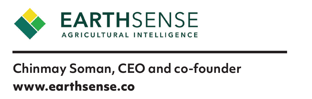 ​​​​​​​EarthSense  Chinmay Soman, CEO and co-founder