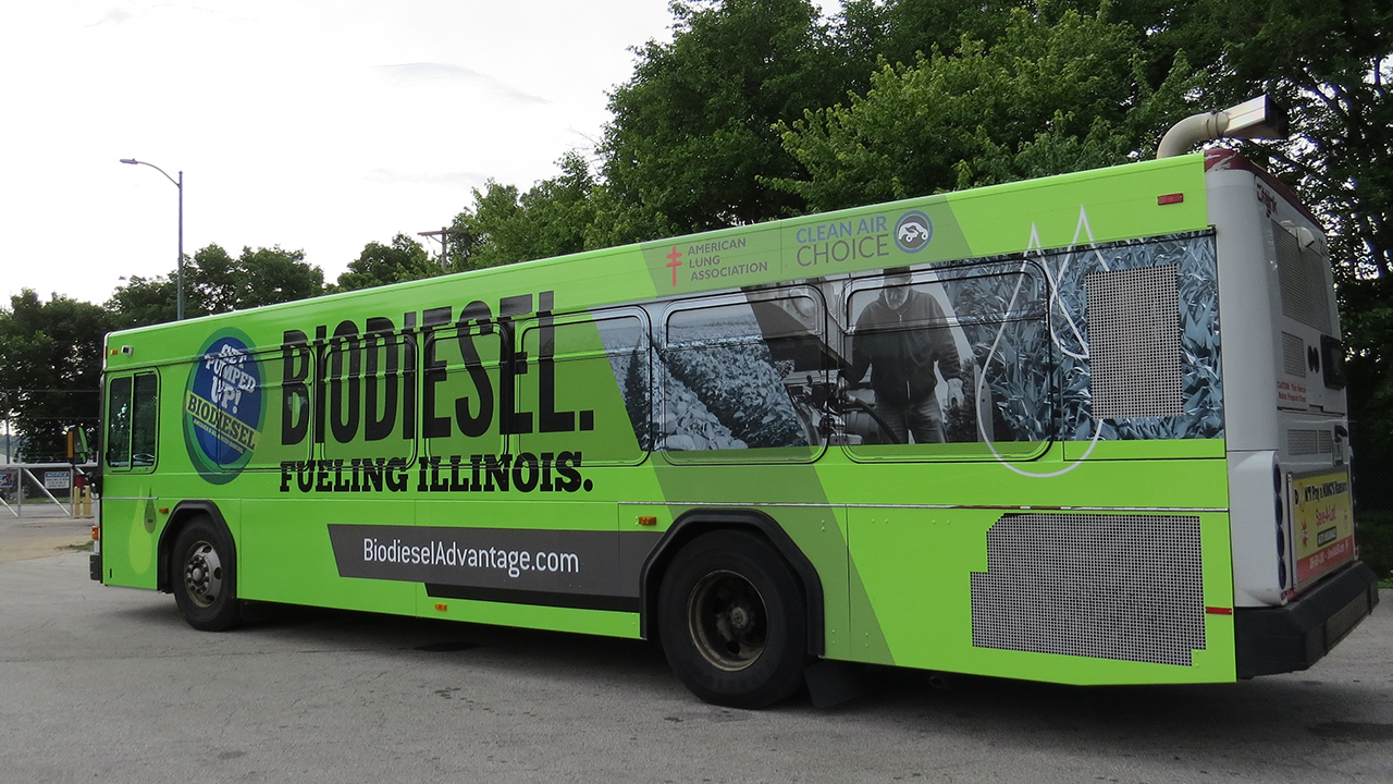 biodiesel wrap bus