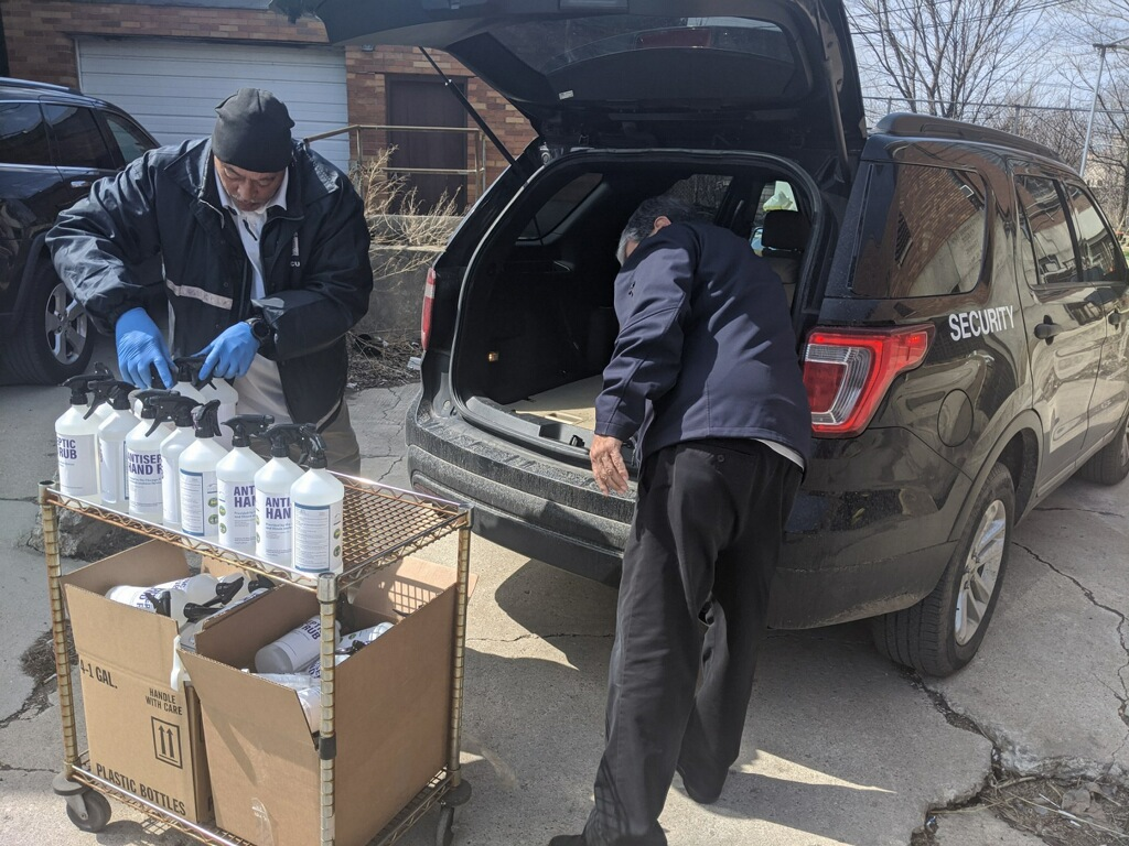 The Chicago Park District began hand sanitizer productions last week and has already started distribution among its workers. Park staff will carry smaller 6-ounce bottles of sanitizer on hand, larger 32-ounce bottles will be placed at fixed positions and in CPD vehicles. Gallon sized bottles will be used to refill smaller containers.