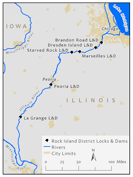 Illinois Waterway System Map