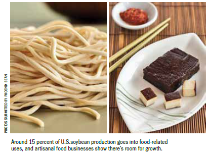 Around 15 percent of US soybean production goes into food-related uses