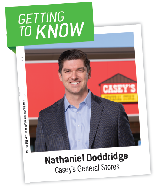Casey's General Stores received the Eye on Biodiesel Impact Award from the National Biodiesel Board (NBB) in 2019. Nathaniel Doddridge is Casey's director of fuels.