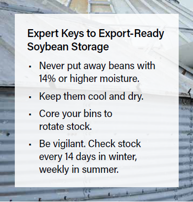 Expert Keys to Export-Ready Soybean Storage