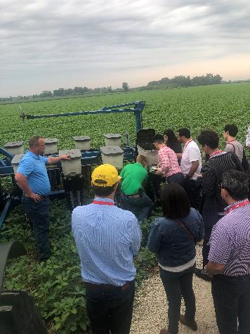 O'Connor and several of his neighbors explained every aspect of soybean production on the farm, including planting and about how Illinois soybean producer manage crop quality and control pests.