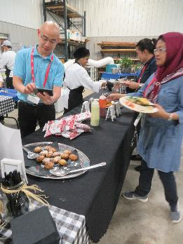 Lunch at the O'Connor farm featured several items prepared with high oleic soybean oil, including deep-fried Oreos.